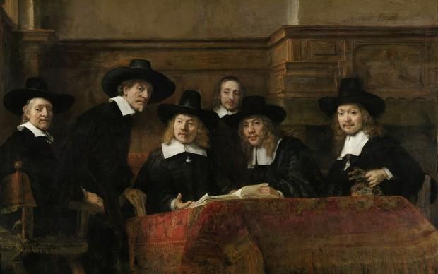 Rembrandt van Rijn, I sindaci dei drappieri, Rijksmuseum