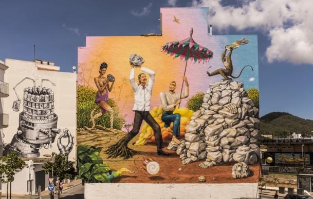 Phlegm & AEC (Interesni Kazki) a BLOOP Festival 2013-2016, Ibiza, photo Marc Colomines