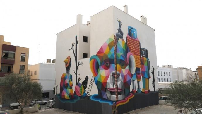 Okuda a BLOOP Festival 2015 - Multiverse, Ibiza