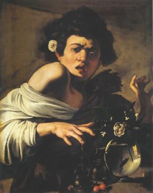 Michelangelo Merisi da Caravaggio, Fanciullo morso da un ramarro, 1596-1597, olio su tela, 65,8 x 52,3 cm, Fondazione di Studi di Storia dell'Arte Roberto Longhi di Firenze, Fondazione di Studi di Storia dell'Arte Roberto Longhi