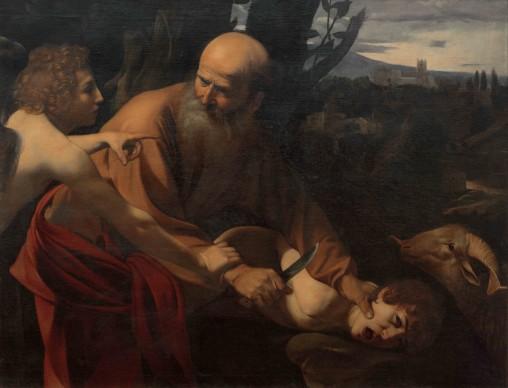 Michelangelo Merisi da Caravaggio, Sacrificio di Isacco, 1602-1603, olio su tela, 152,5 x 182 x 11 cm, Galleria degli Uffizi, Firenze, Gabinetto Fotografico delle Gallerie degli Uffizi