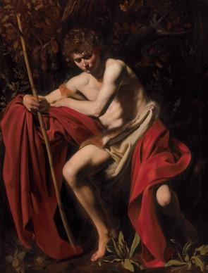 Michelangelo Merisi da Caravaggio, San Giovanni Battista, 1603, olio su tela, 172,7 x 132 cm, The Nelson-Atkins Museum of Art, Kansas City, Missouri The Nelson-Atkins Museum of Art, Kansas City, Missouri