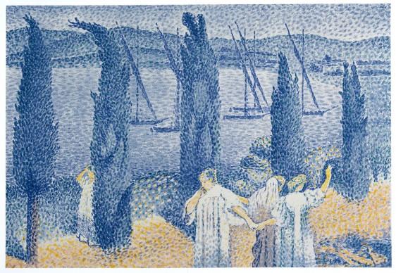HENRI-EDMOND CROSS, The Promenade or The Cypresses (La Promenade or Les cyprès), 1897. Private collection