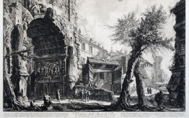 Giovanni-Battista-Piranesi-Arco-di-Tito-1756-1760-acquaforte-Museo-di-Roma-