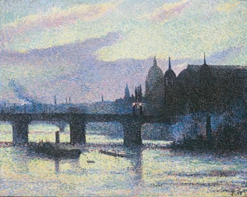 MAXIMILIEN LUCE, View of London (Cannon Street) (Vue de Londres [Cannon Street]), 1893. Private collection © Maximilien Luce, VEGAP, Bilbao, 2017
