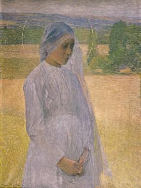Henri Martin  Young Saint (Jeune sainte), 1891  Musée des Beaux-Arts, Brest, France  Photo: © Musée des Beaux-Arts, Brest, France
