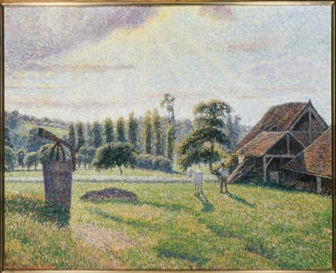 CAMILLE PISSARRO, The Delafolie Brickyard at Éragny (La Briqueterie Delafolie à Éragny), 1886-88. Private collection