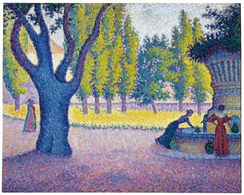 PAUL SIGNAC, Saint-Tropez, Fontaine des Lices, 1895. Private collection