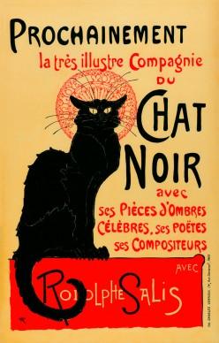 THÉOPHILE-ALEXANDRE STEINLEN, The Very Illustrious Company of the Chat Noir (La très illustre Compagnie du Chat Noir), 1896. Private collection