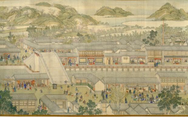 Xu Yang, The Qianlong Emperors Southern Inspection Tour, Scroll Six: Entering Suzhou along the Grand Canal