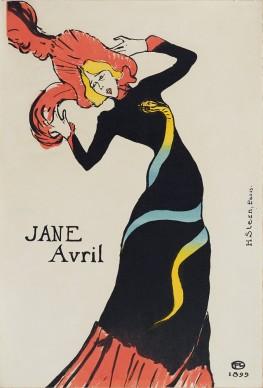 HENRI DE TOULOUSE-LAUTREC, Jane Avril, 1899. Private collection