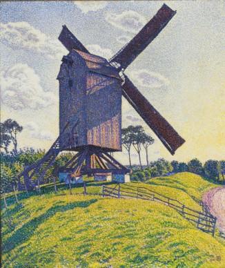 THÉO VAN RYSSELBERGHE, Kalf Mill in Knokke or Windmill in Flanders (Le Moulin du Kalf à Knokke or Moulin en Flandre), 1894.Private collection