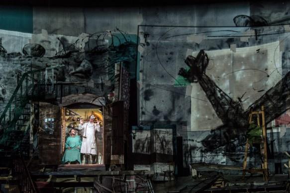 Alban Berg • Wozzeck 2017: Matthias Goerne (Wozzeck), Jens Larsen (Doctor) © Salzburger Festspiele / Ruth Walz