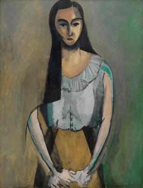 Henri Matisse, The Italian Woman, 1916 Oil on canvas, 116.7 x 89.5 cm  The Solomon R. Guggenheim Museum, New York. By exchange, 1982, 82.2946  Photo © The Solomon R. Guggenheim Foundation/Art Resource, NY  © Succession H. Matisse/DACS 2017
