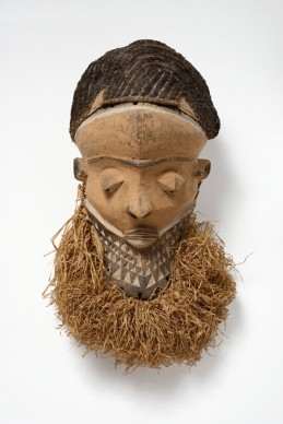 Muyombo mask, Pende region, Democratic Republic of the Congo, 19th-early 20th century   Wood, fiber and pigment,  49 x 19.3 cm  Former collection of Henri Matisse. Private collection Photograph by Jean-Louis Losi