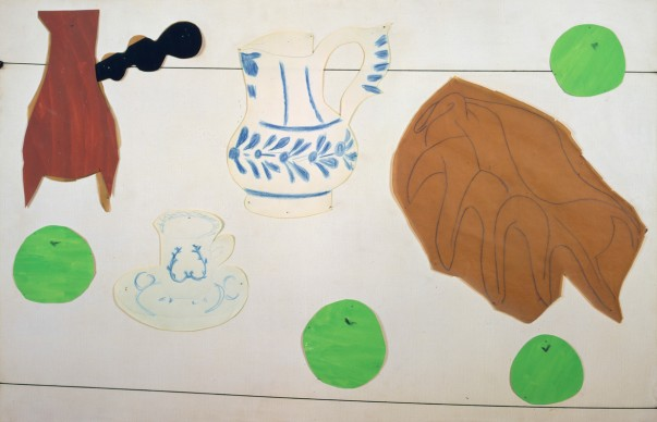 Henri Matisse, Still Life with Shell, 1940  Gouache, coloured pencil, and charcoal on cut paper, and string, pinned to canvas, 83.5 x 115 cm  Private collection  Photo © Private collection  © Succession H. Matisse/DACS 2017