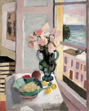 Henri Matisse, Safrano Roses at the Window, 1925  Oil on canvas, 80 x 65 cm   Private collection Photo © Private collection  © Succession H. Matisse/DACS 2017