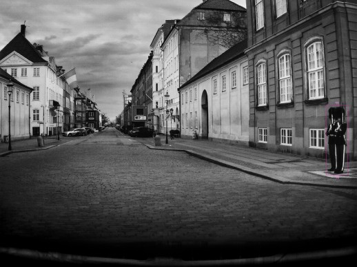 Barbara Davidson, Copenhagen vista attraverso la fotocamera di sicurezza della Volvo XC60, 2017
