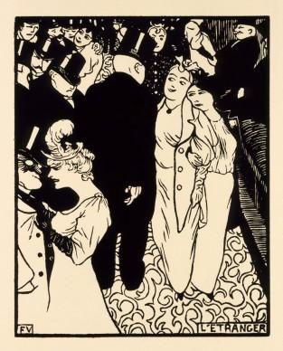 FÉLIX VALLOTTON, The Stranger (L´étranger), 1894. Private collection