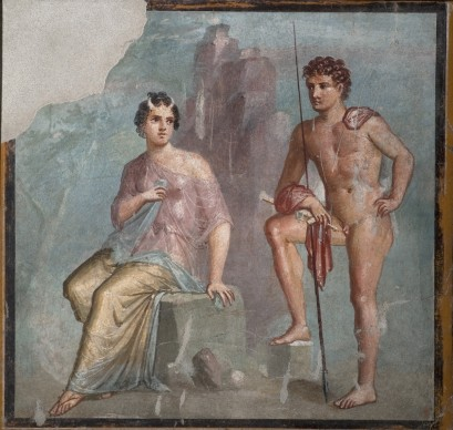 Io, Argo, Napoli, Museo Archeologico Nazionale di Napoli, intonaco dipinto ad affresco 62-79 d.C. Da Pompei, Casa di Meleagro, Tablino 8, parete nord