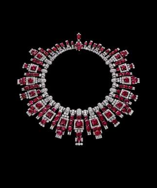 Collana di rubini di Nawanagar, Cartier, 1937. Platino, rubini, diamanti © The Al Thani Collection