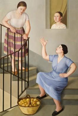 Antonio Donghi, Donne per le scale, 1929, Banca Monte dei Paschi di Siena