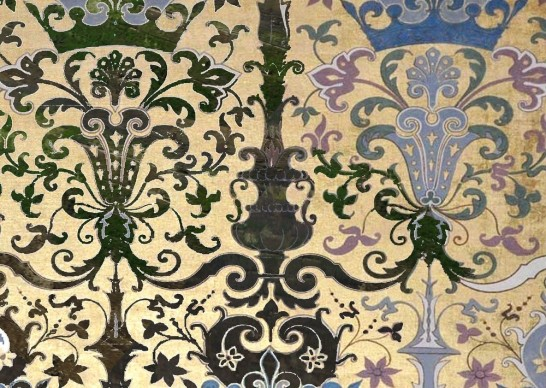 Particolare della decorazione di Félix Duban nella stanza reale all'interno del Castello di Blois, Francia. Photo credit: Courtesy Studio Baptiste Debombourg & Galerie Patricia Dorfmann - Paris