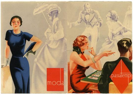 Contrasti, 1936. Creaz. Momi, Torino; calendarietto; collezione Borsari 1870, Parma
