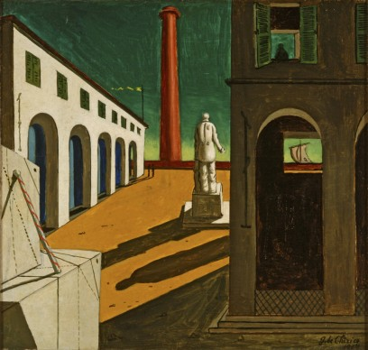 Giorgio de Chirico,  Enigma della partenza, 1914, Fondazione Magnani Rocca, Mamiano di Traversetolo (PR)