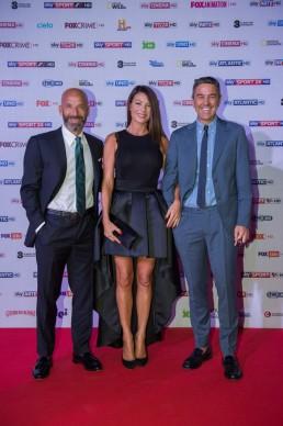 Gianluca Vialli, Ilaria D'Amico e Billy Costacurta