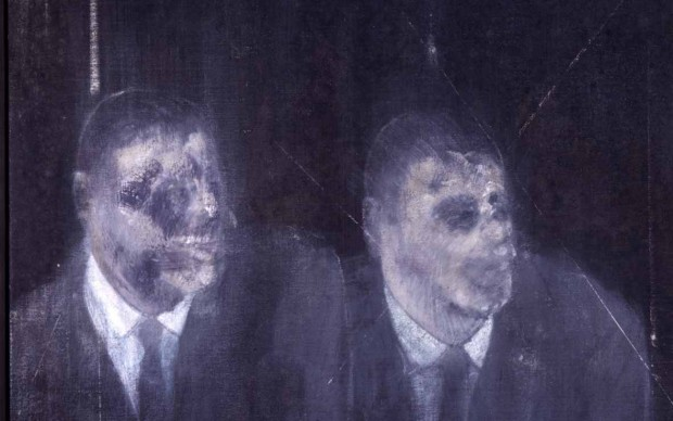Francis Bacon, Two Americans, 1954, olio su tela (foto Adriana Ferrari-Milano)