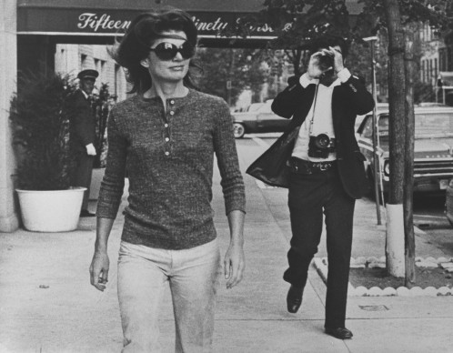 Jacqueline Kennedy Onassis and Ron Galella on Madison Avenue, New York. October 7, 1971. © Ron Galella