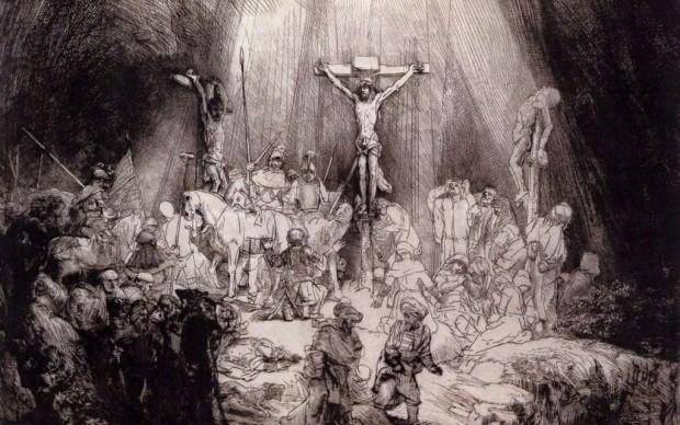 Rembrandt van Rijn, The Three Crosses, 1653, Drypoint, Museum Boijmans Van Beuningen