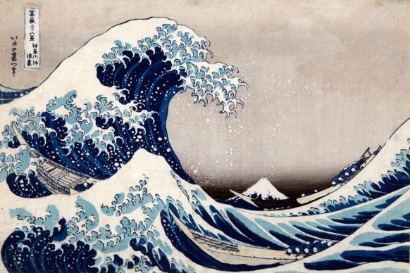 Katsushika Hokusai, La [grande] onda presso la costa di Kanagawa, dalla serie Trentasei vedute del monte Fuji,  1830-1832 circa, Kawasaki Isago no Sato Museum