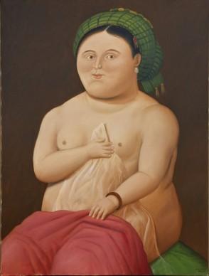 Fernando Botero, La Fornarina, 2008. Olio su tela, 198x143 cm