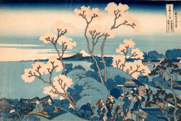 Katsushika Hokusai, Il Fuji da Gotenyama presso Shinagawa sul Tōkaidō,  dalla serie Trentasei vedute del monte Fuji, 1830-1832 circa, Kawasaki Isago no Sato Museum
