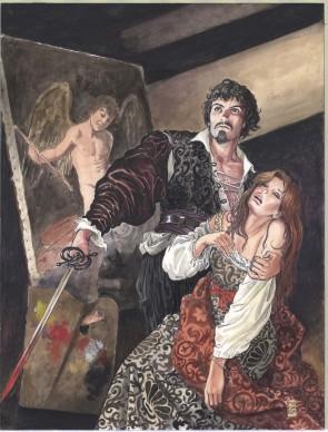 Milo Manara, Copertina di Caravaggio - Volume 1