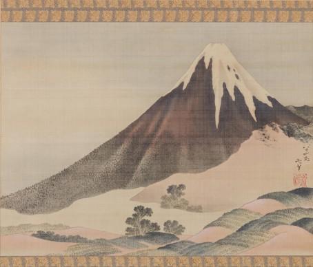 Katsushika Hokusai, Il Monte Fuji al tramonto, 1843, Sumisho Art Gallery