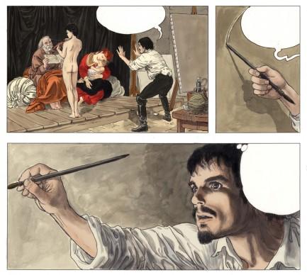 Milo Manara, tratto dal volume Caravaggio - Volume 1
