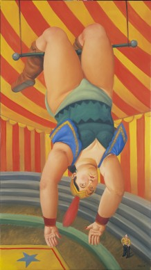 Fernando Botero, Trapezista, 2007. Olio su tela, 178x100 cm