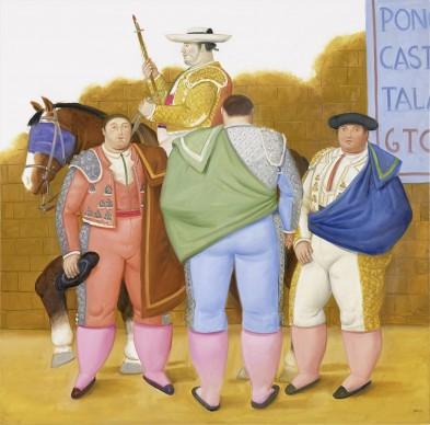 Fernando Botero, La quadriglia, 2012. Olio su tela, 164x162 cm