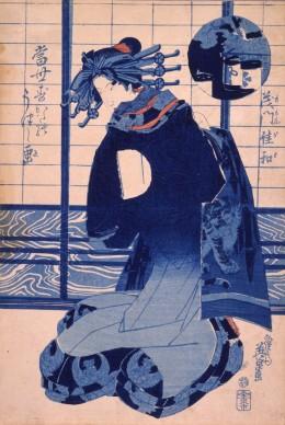 Keisai Eisen, Momongawa dalla serie: Aspetti dello stile moderno, 1830-1844 circa, Chiba City Museum of Art
