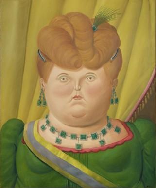 Fernando Botero, First lady, 2000. Olio su tela, 186x154 cm