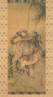 Katsushika Hokusai, Tigre tra I bambù, 1839, Sumisho Art Gallery