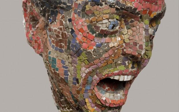 Mirko Basaldella, Furore, 1944, mosaico veneziano, h 26 cm., Roma, Collezione G. Bertolami - in comodato presso il Museo della Scuola Romana