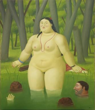 Fernando Botero, Nudo. Olio su tela, 180x120 cm circa