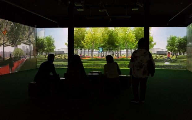 Biblioteca degli Alberi video installazione Fondazione Riccardo Catella Milano
