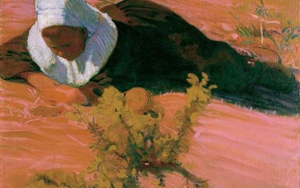 Cuno Amiet, Ragazzo bretone (Bretonischer Knabe) 1893, olio su tela, 65 x 80 cm Kunsthaus Zürich, Vereinigung Zürcher Kunstfreunde © M. + D. Thalmann, Herzogenbuchsee
