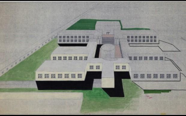 Aldo Rossi, Scuola Fagnano Olona, courtesy of Eredi Aldo Rossi