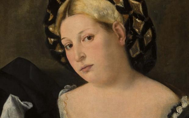 Bernardo Licinio, Ritratto di donna con balzo. Gallerie dell accademia di Venezia